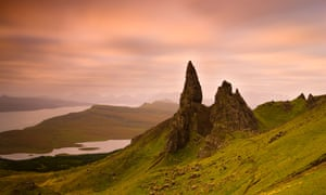 Old Man of Storr at dawn, Isle of Skye, Highland, Scotland.