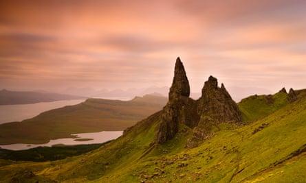 Old Man of Storr at dawn, Isle of Skye, Highland, Scotland.