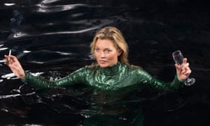 Enjoying the attention: Kate Moss in Absolutely Fabulous.