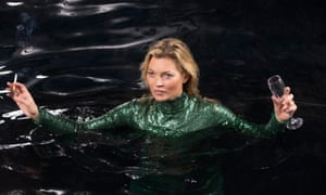 Kate Moss in the Absolutely Fabulous film