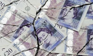 Cracked and torn £20 notes