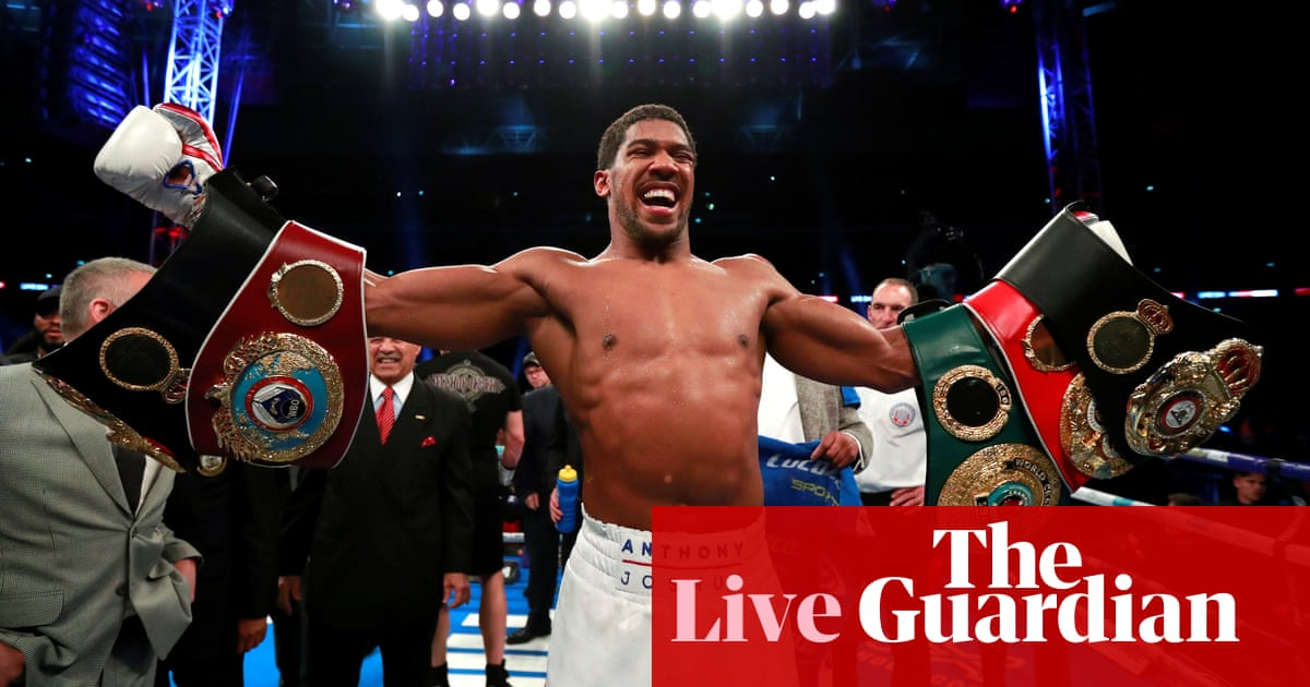 Anthony Joshua knocks out Alexander Povetkin to retain world titles – as it happened