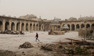 The Umayyad mosque, an ancient place-of-worship-turned-fortress, is a playground in a hellscape.