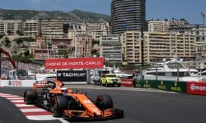 McLaren's Jenson Button in action in Monaco
