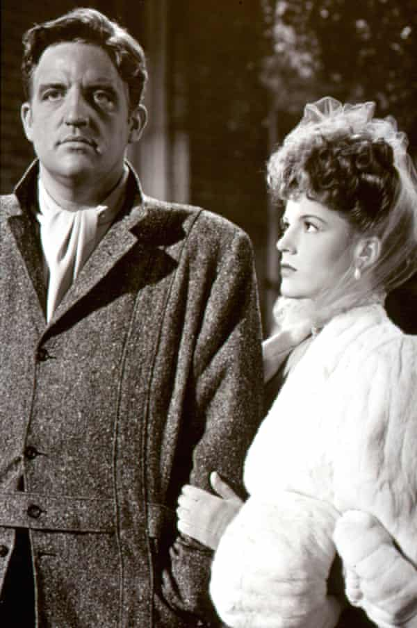 Laird Cregar and Linda Darnell in the film adaptation of Hangover Square in 1945.
