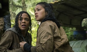 Tess Thompson, left, and Gina Rodriguez in Annihilation.