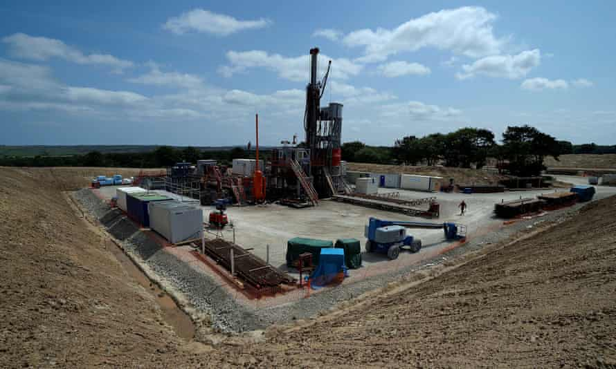 The Sirius Minerals test drilling station on the North Yorkshire Moors near Whitby