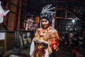 Backstage at a Chinese opera