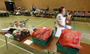 A food bank in  Inverclyde