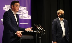 Victorian premier Daniel Andrews and chief health officer Brett Sutton give the daily Covid update in Melbourne, 30 September 2020.