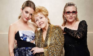 Billie Lourd, Carrie Fisher and Debbie Reynolds at the Screen Actors Guild awards in Los Angeles last year.