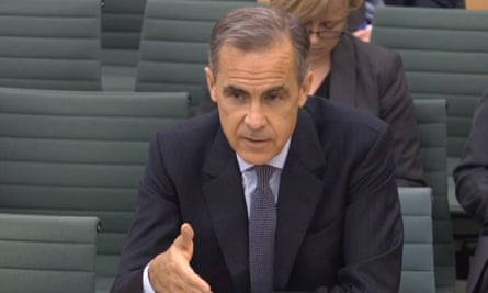 Mark Carney answers questions in front of the Treasury select committee