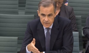 Governor Mark Carney at the Treasury select committee