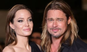 It's great to be straight … Pitt with his ex-wife, Angelina Jolie, in 2013.