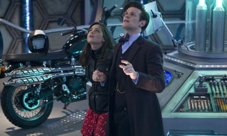 Clara (Jenna Coleman) and The Doctor (Matt Smith) in Day of the Doctor.