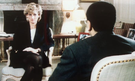 The Princess of Wales is interviewed by the BBC's Martin Bashir for Panorama on 20 November 1995