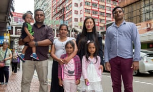 The refugee families in Hong Kong, China on Monday.