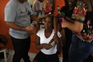 Hairdressers work their magic