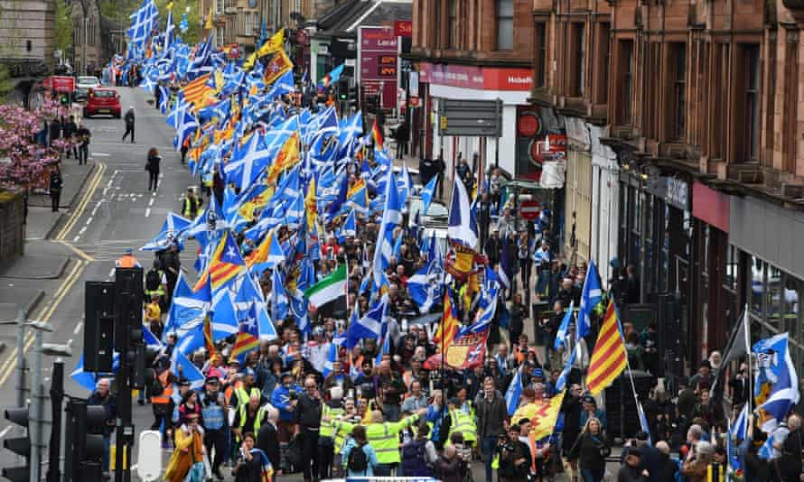 Police Scotland estimated that 35,000 supporters turned out for the march.