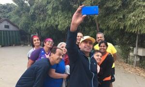 Coach takes a 5km group selfie.