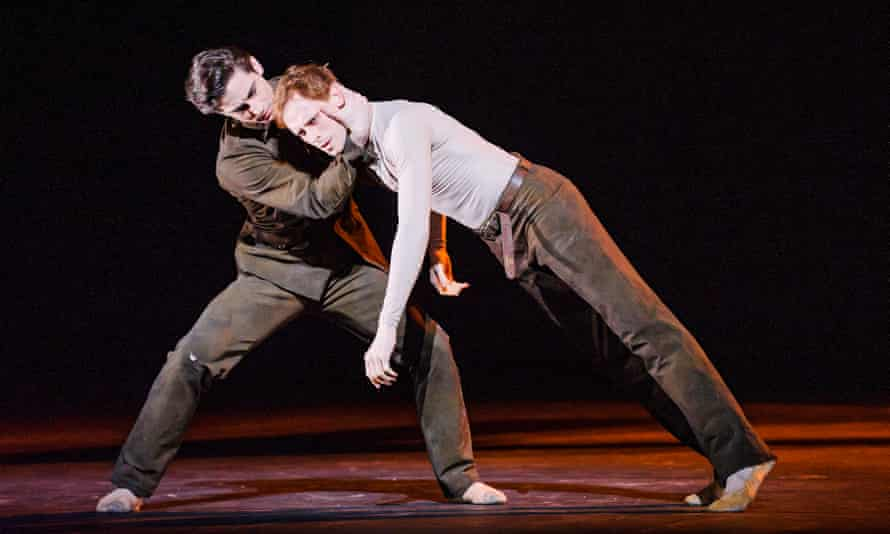 Tristan Dyer and Edward Watson in Part 1: I Now, I Then from Woolf Works by the Royal Ballet at the Royal Opera House.