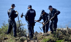 Police undertake a search at North Head near Manly following the arrest of Scott Phillip White in relation to the 1988 murder of Scott Johnson.