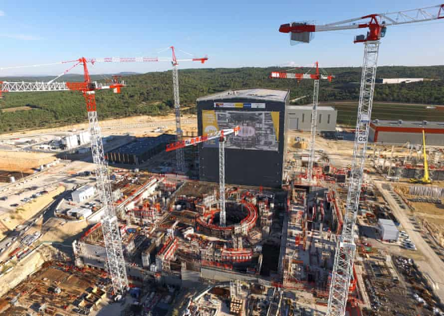 The construction of Iter, France.