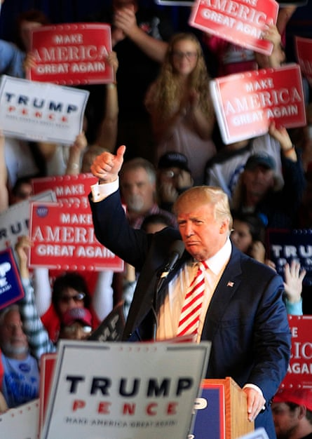 Jinxed year ... Trump wins. Photograph: George Frey/Getty Images