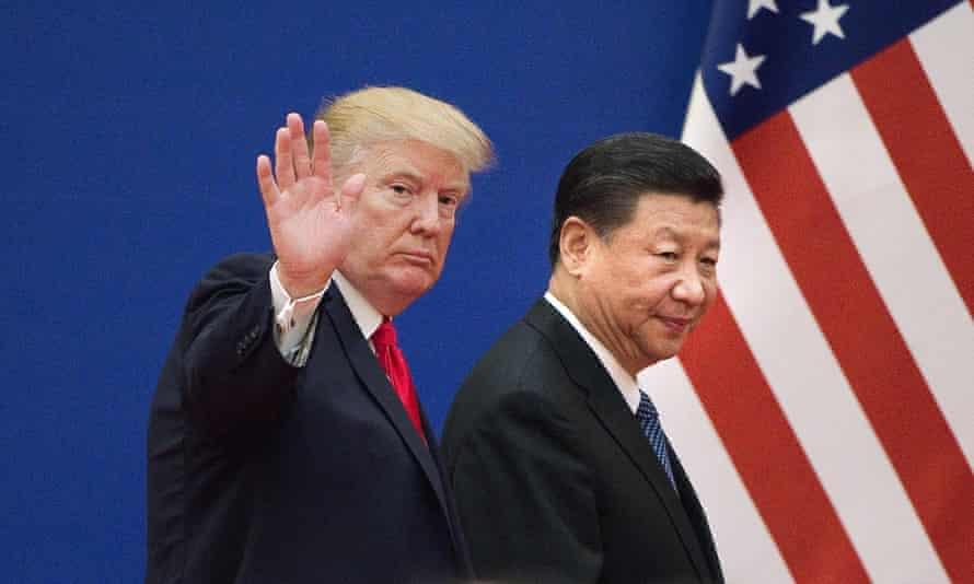 Trump and Xi in Beijing in November 2017.