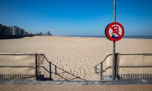 La plage déserte d'Ostende.
