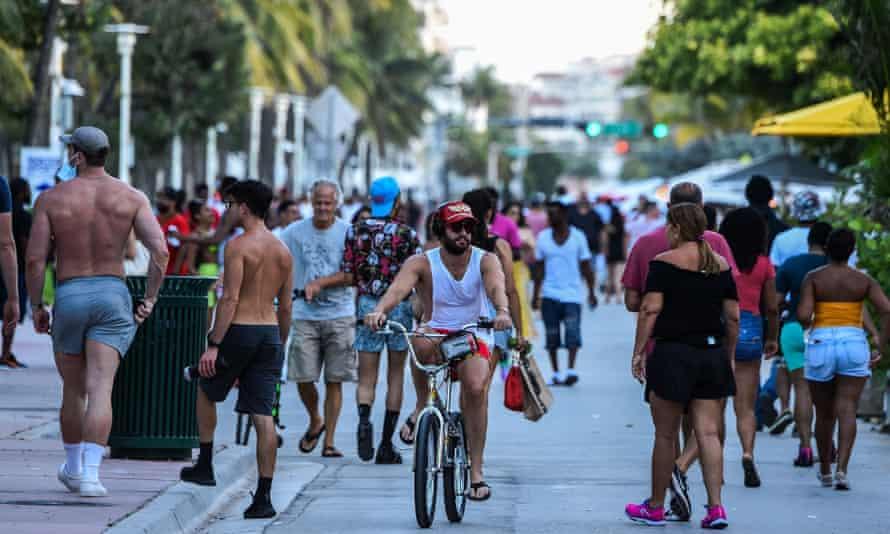 Ocean Drive in Miami Beach, Florida on Friday.