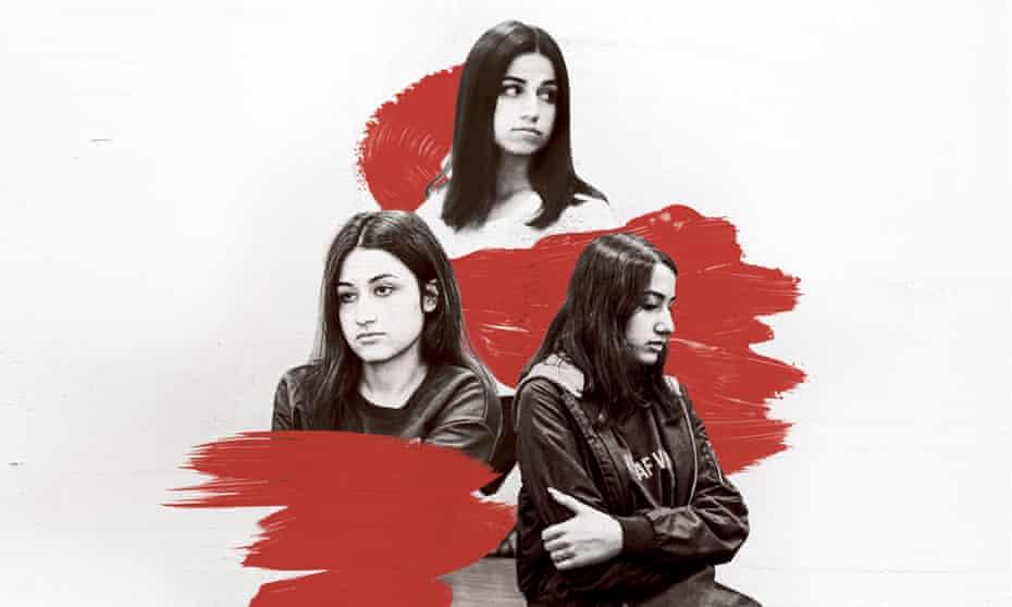From top: Angelina, Krestina and Maria Khachaturyan.