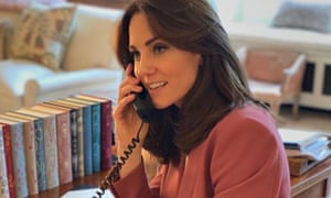 The Duchess of Cambridge pictured with her 'incredible' books in March.