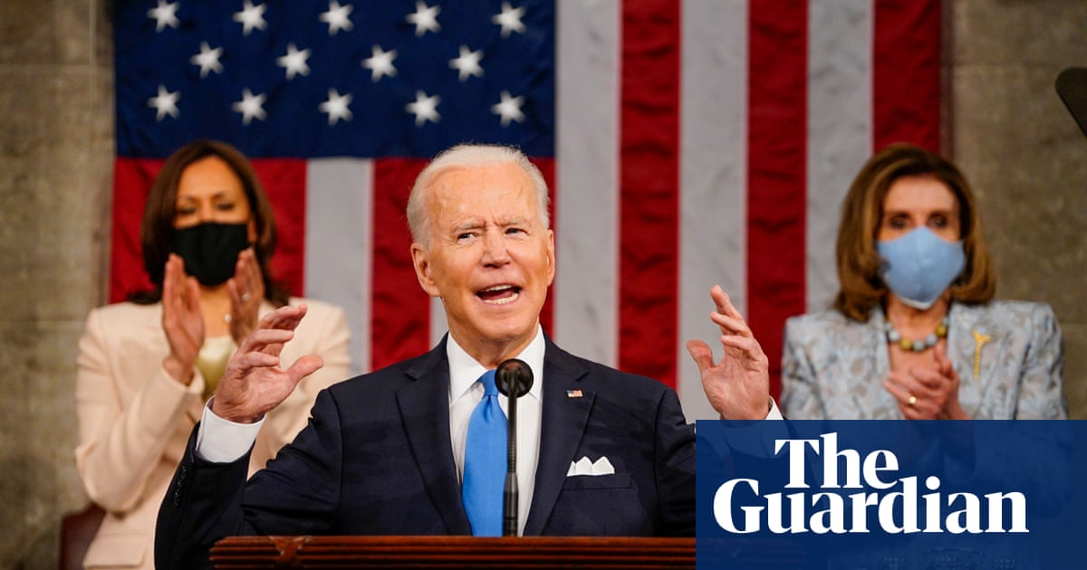 Biden declares 'America is on the move again' in first congressional address – video