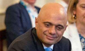 close up of sajid javid