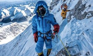 Melissa Arnot on her ascent in May. Arnot is the first American woman to successfully summit Everest without supplemental oxygen.