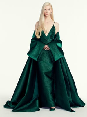 Anya Taylor-Joy, who won best actress in a mini series or motion picture for TV for The Queen's Gambit and was nominated for best actress in a musical or comedy motion picture for Emma, wore a custom Dior dress – a look that her stylist, Law Roach, told Vogue was 'retro, but modern and cool at the same time'.