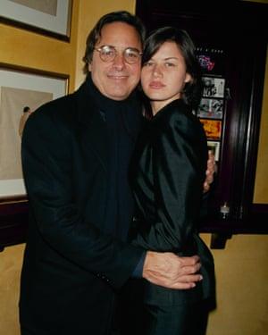 John Casablancas con su tercera esposa, Aline Wermelinger; se conocieron cuando ella era una competidora de Look of the Year 1992