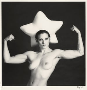Lisa Lyon (wearing a star hat by Claude Montana), 1982