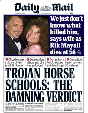 Daily Mail cover, 2014