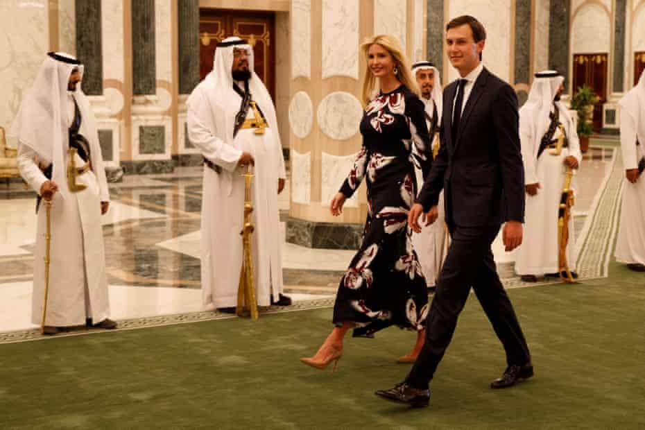 Jared Kushner and Ivanka Trump at the Royal Court Palace, in Riyadh, Saudi Arabia.