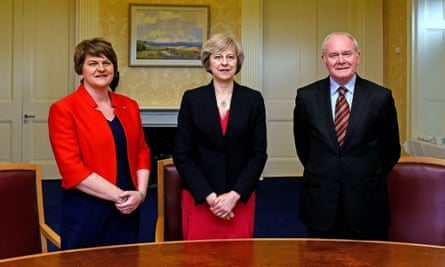 Arlene Foster, Theresa May and Martin McGuinness