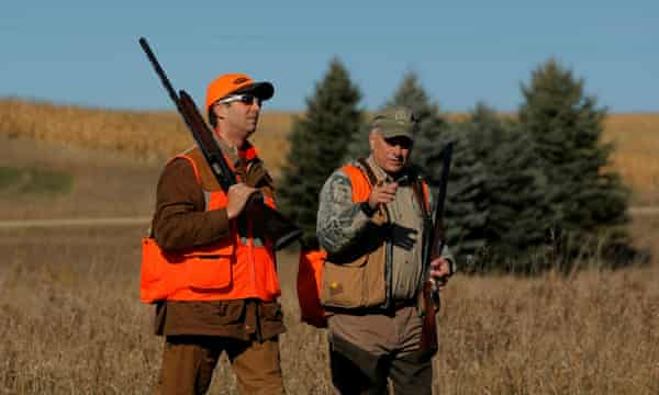 Steve King goes pheasant hunting with Donald Trump Jr in 2017.