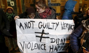 People protest against the acquittal of ex-radio host Jian Ghomeshi last year.