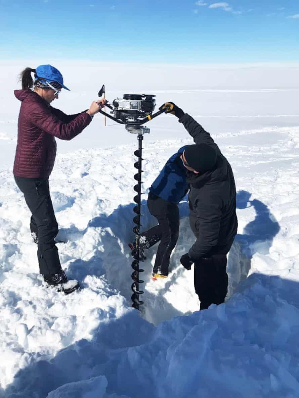 Drilling at the Totten glacier, Antarctica, 2019.