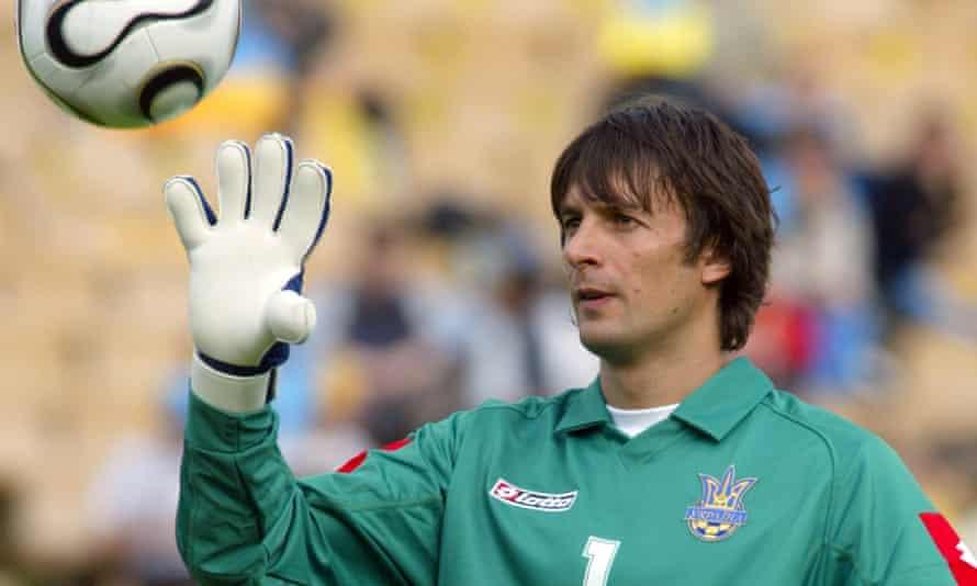 Oleksandr Shovkovskiy during Ukraine's game against Costa Rica in May 2006. He retired in 2016.