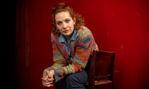 """Katherine Parkinson , actor, photographed ath the Royal Court Theatre, ahead of her starring role in the play """"The Shoe Lady"""" by E.V. Crowe. Katherine Jane Parkinson is an English actress. She has appeared in several comedy series, including as Jen Barber in Channel 4's The IT Crowd, for which she received a British Comedy Best TV Actress Award in 2009 and again in 2014, and a BAFTA TV Award in 2014 (having received a nomination in 2011). She was also a main cast member of the series Doc Martin for three series, and performed the voice-overs for the games Worms Clan Wars and Worms Battlegrounds. She co-starred in Series 1–3 of Humans, a science-fiction drama on AMC/Channel 4, which premiered in June 2015. She has also appeared in such films as How to Lose Friends & Alienate People and The Boat That Rocked."""