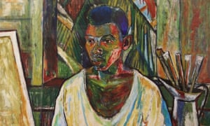 Detail from Patrick Barrington's self-portrait of 1957, which is held in the national gallery of Guyana