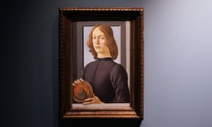 Sandro Botticelli's Young Man Holding a Roundel.