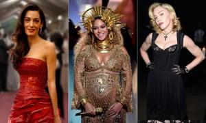 Amal Clooney, Beyoncé and Madonna.
